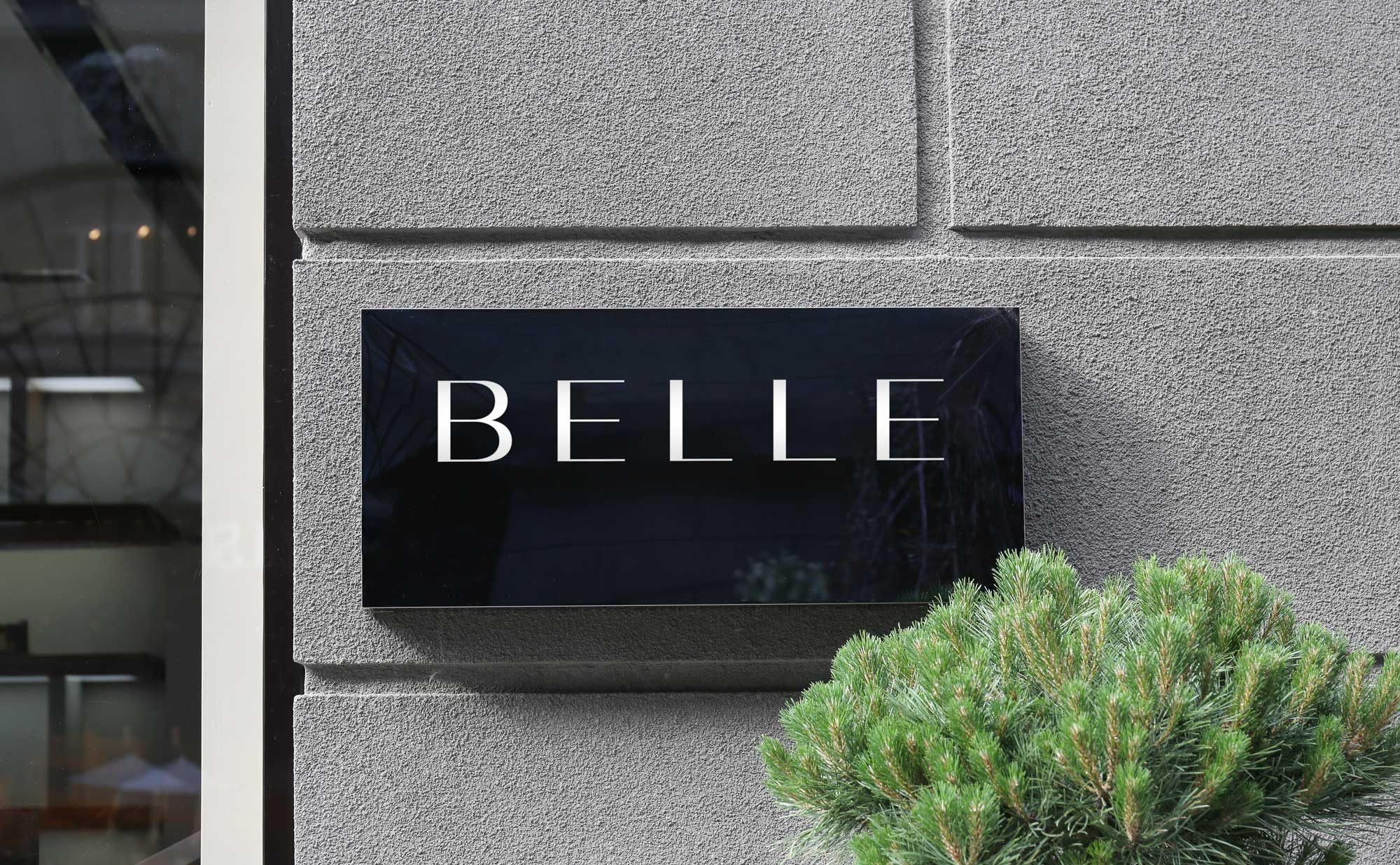 Belle Store Sign Logo